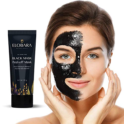 ELOBARA Blackhead Remover Mask Purifying Black Peel Off Activated Facial Acne tube 50g