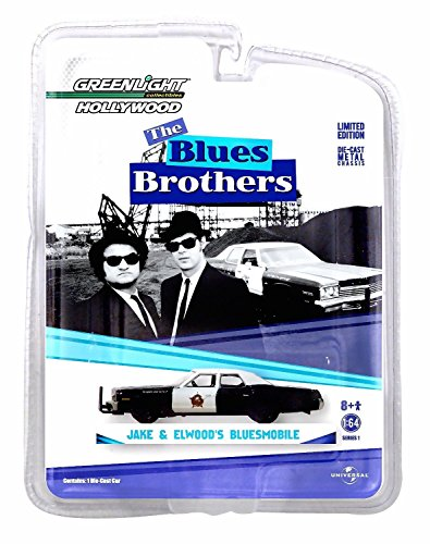 JAKE & ELWOOD'S BLUESMOBILE / 1974 DODGE MONACO from THE BLUES BROTHERS * Hollywood Greatest Hits * Greenlight 1:64 Scale Die-Cast ()