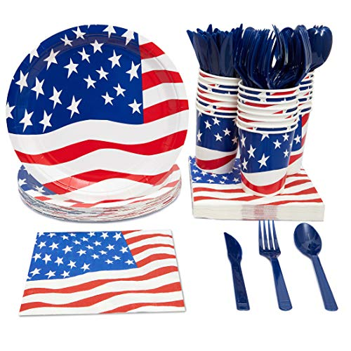 Juvale Patriotic American Party Supplies (Serves 24) Knives,