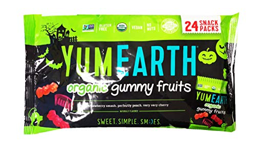Yumearth YumEarth Hallween Limited Edition Organic Gummy Candy Snack Pack (Gummy Fruits 24) -