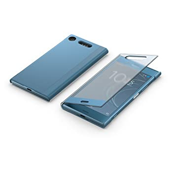 newest 37660 26b43 Sony Mobile Style Cover Touch Sensitive Protective Case for Xperia XZ1 -  Blue