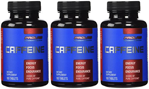 ProLab Caffeine Pills Energy and Focus: (3) 100-Count Bottles (200 mg) by ProLab