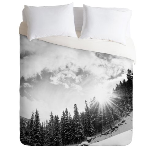 Amazon.com: DENY Designs Bird Wanna Whistle White Water Duvet Cover, Queen: Home & Kitchen