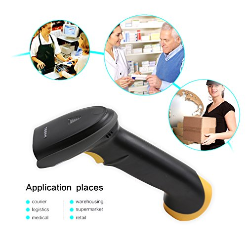TEEMI 2D barcode scanner with stand USB wired Handheld Automatic QR Data matrix PDF417 bar codes Imager for Mobile Payment Computer Screen Scan support Windows Mac and Linux PC POS by TEEMI (Image #3)