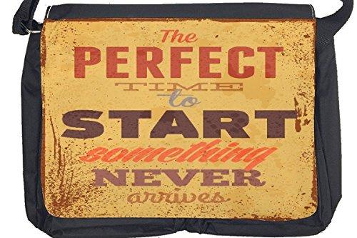 Borsa Tracolla Proverbi Tempo Stampato