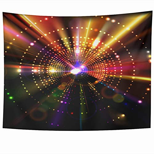 Ahawoso Tapestry 80 x 60 Inches Star Red Psychedelic Abstract Party Club Luxury Nightclub Light Music Nightlife Design Wall Hanging Home Decor Tapestries for Living Room Bedroom Dorm