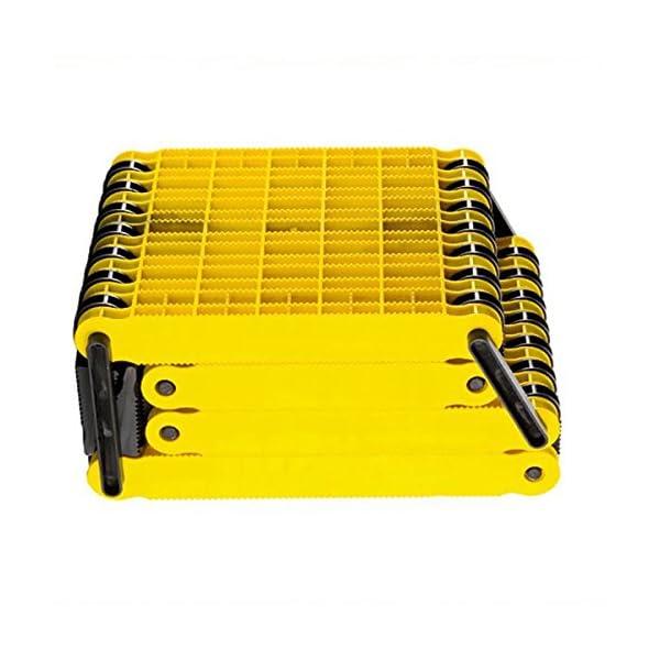 51%2ByX Qw%2BVL Uniko 6in1 Faltrampe 2er Set, Kunststoff-Sandblech Traktionshilfe Anfahrhilfe Sandboard