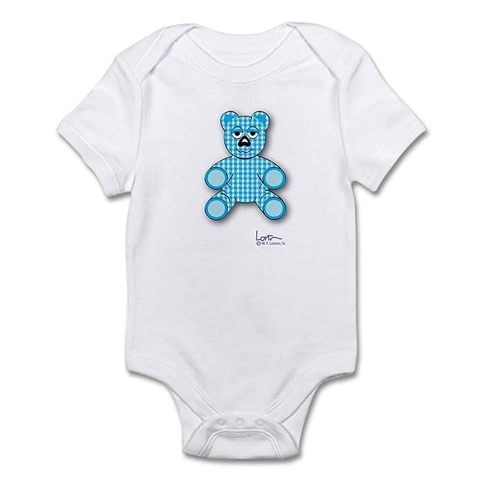 3cc7999bd7a5 Amazon.com  CafePress Onesie with Blue Gingham Teddy Bear Baby ...