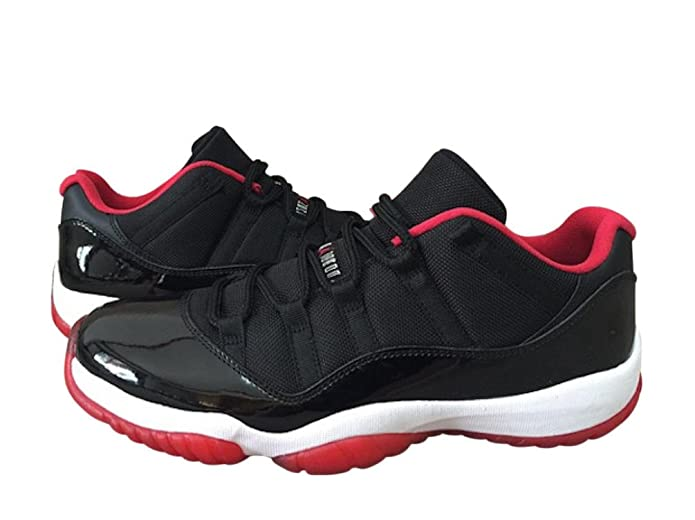 half off 3fe95 4ade2 Amazon.com   Nike Men s Air Jordan 11 Retro Low Bred Black Leather Sneaker  12 D(M) US   Basketball