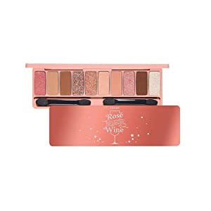 ETUDE HOUSE Play Color Eyes Rose Wine | Vivid 10 Color Eye Shadow Palette that Consists of Matte, Shimmer and Jelly Glitter Texture Shadows | Kbeauty