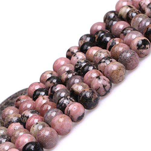 Rhodonite Beads for Jewelry Making Natural Gemstone Semi Precious 6mm Round 15