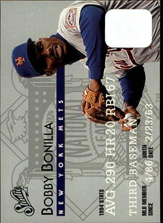 Amazon.com: 1995 Donruss Studio Baseball Card #105 Bobby Bonilla Mint: Collectibles & Fine Art