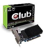 Club3D GeForce 210 Passive 1024 MB DDR3 PCI Express 2.0 DVI/HDMI/VGA Graphics Card, CGNX-212L, Black