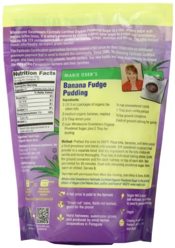 Wholesome Sweeteners Organic Powdered Sugar, 16 oz by Wholesome Sweeteners (Image #3)