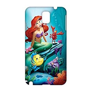 Angl 3D Case Cover Cartoon Cute Little Mermaid Phone Case for Samsung Galaxy Note3