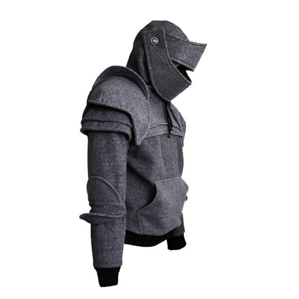 Men's Arthur Knight Hoodie Medieval Armor Sweatshirt Long Sleeve Jacket Coat