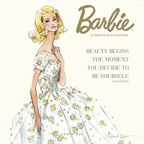 Barbie Calendar - Barbie Foil Mini 16 Month 2018 Wall Calendar