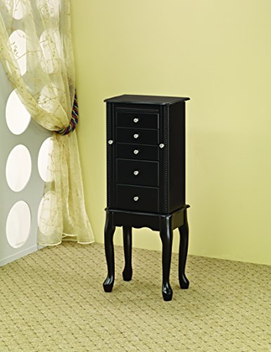 Coaster Home Furnishings 5-drawer Jewelry Armoire Black ()