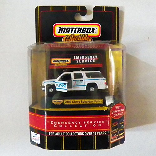 "Matchbox Collectible ""Emergency Service"" Collection 2000 Chevy Suburban Police Vehicle"