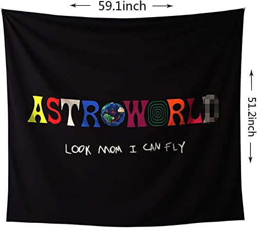 ASTRO WORLD Series 2020 art Tapestry Look Mum I Can Fly Tapestry 3D Boutique Wall Tapestry for Home Living Room Bedroom Dorm Decor.