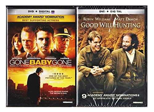 GOOD WILL HUNTING / GONE BABY GONE DVD Double Pack Set (BOTH Awesome DVD Movies in 1 Set Together) Robin Willaims & Ben Affleck (Patch Adams What Dreams May Come)