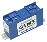 Gems Sensors 54806 Dual Channel Zener Barrier, 275 ohms Resistance, 30 VDC Voltage, 60 mA Current