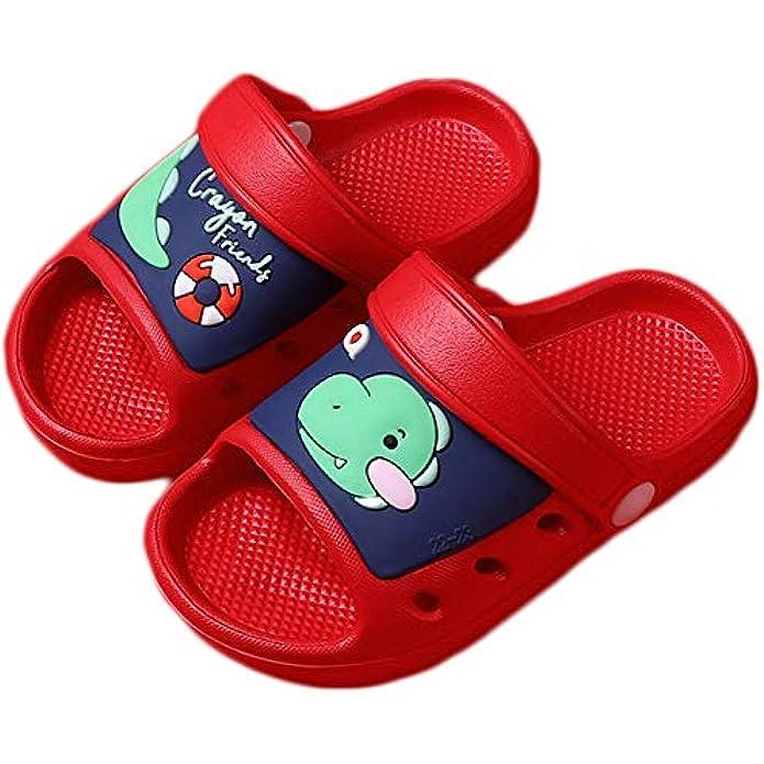 SMajong Kid's Garden Clogs Boys Girls Lightweight Open Toe Beach Pool Slides Sandals Toddler Non-Slip Summer Slippers Water Shoes