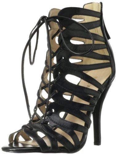 Nine West Women's Kenie Sandal,Black Leather,6 M US