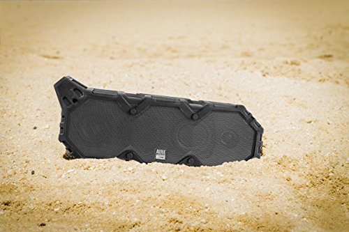 Altec Lansing IMW789-BLG LifeJacket XL Wireless Waterproof Floatable Bluetooth Speaker with 100 ft Wireless range, 40 Hours of Battery Life, and Stereo Pairing, Black/Grey by Altec Lansing (Image #1)