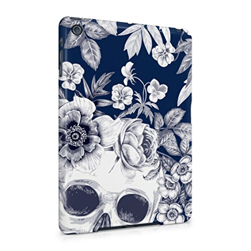 Tropical Floral Dead Pirate Skull Indie Hype Hipster Tumblr Plastic Tablet Snap On Back Case Cover Shell For iPad Mini