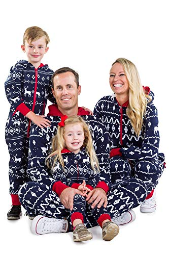 Tipsy Elves Baby Blue Fair Isle Christmas Jumpsuit One Piece Pajamas - Infant PJ's for Christmas: 6-12M