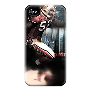 Bumper Hard Phone Covers For Iphone 4/4s (HFh3672wqrr) Allow Personal Design Nice San Francisco 49ers Skin