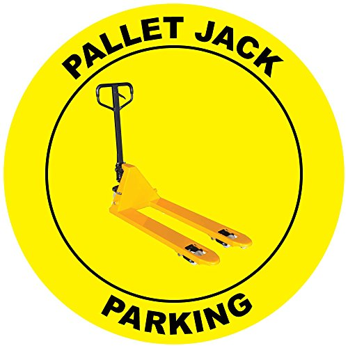 Pallet Jack Parking Yellow Anti-Slip Floor Sticker Decal 17 in longest side