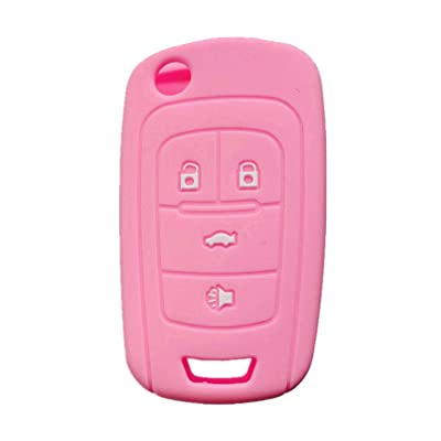 Rpkey Silicone Keyless Entry Remote Control Key Fob Cover Case protector For Buick Encore Enclave LaCrosse Regal Verano OHT01060512(Pink): Automotive