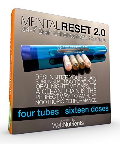 MentalReset 2.0 - 16 Doses (8-Night, 8-Day) Improve Mental Clarity. Enhance Neurogenesis. Measurably Increase Performance of Nootropics. by Nootropic Stacks by WebNutrients