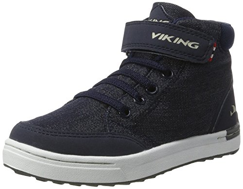 Viking Mark Mid, Zapatillas de Deporte Exterior Unisex Niños Azul (Navy/White)