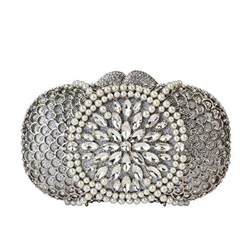 Diamant Gamme à Perles De Femmes Luxe De Pour Main à Sac De White De Haut Soirée Sac Cosmétiques p8UOIw