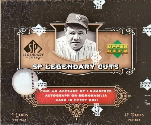 2007 Upper Deck SP Legendary Cuts Baseball Hobby Box - 12p4c -