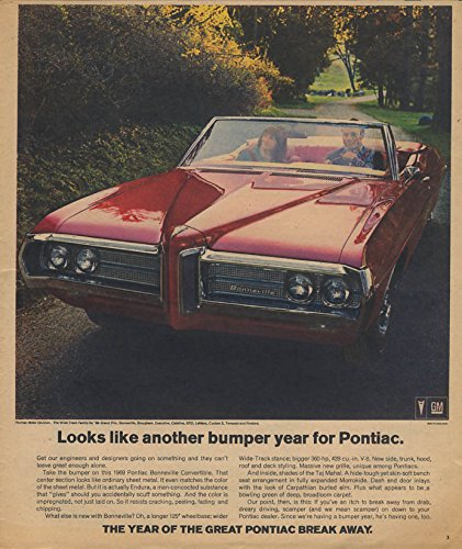 Looks like another bumper crop for Pontiac Bonneville Convertible ad 1969