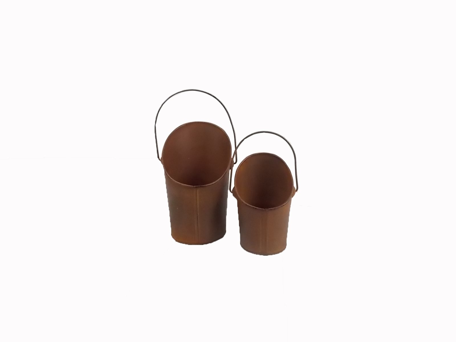 Craft Outlet Rustic Bucket, 5 by 8-Inch and 4 by 6-Inch, Set of 2