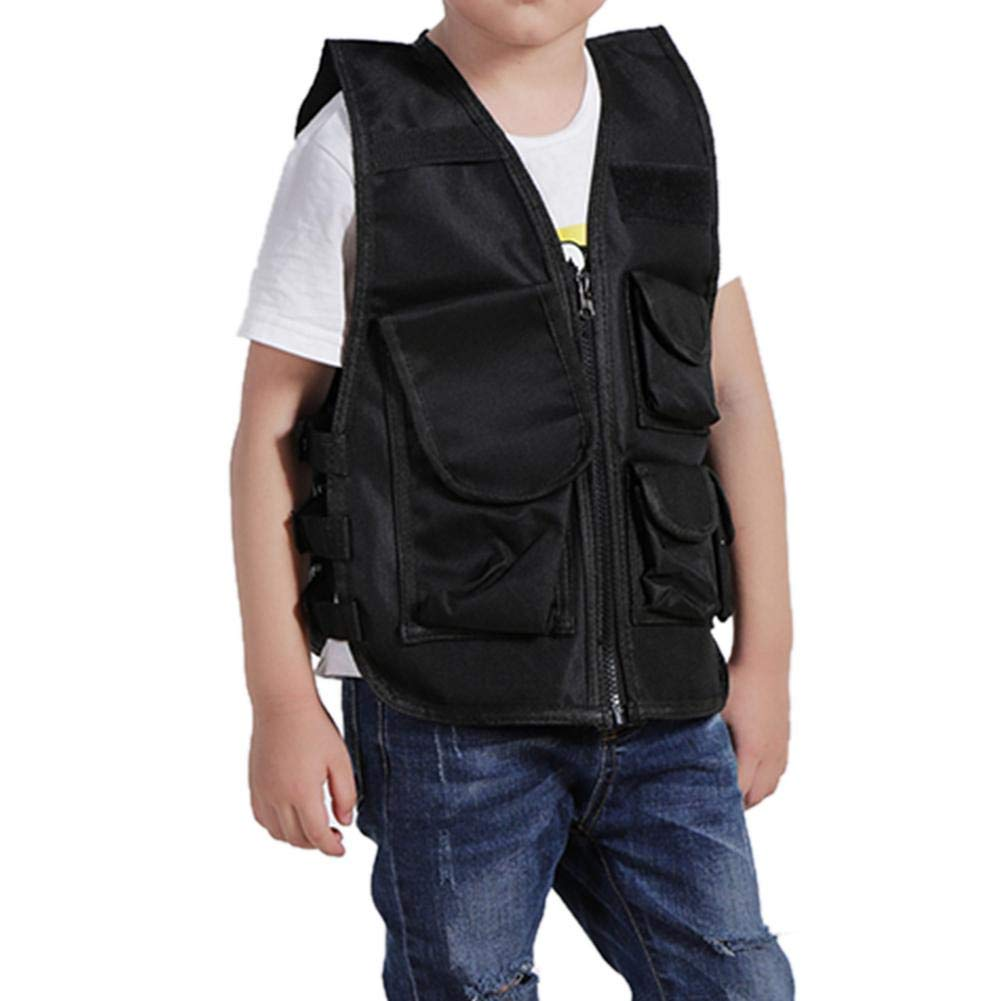 molre-yan Kids Army fan outdoor Children/'s Vest Three-level Clothing Training Vest Camouflage Clot hing
