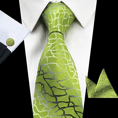 Corbatas Lazo Verde Conjunto de 8 cm Traje púrpura de la Tela ...