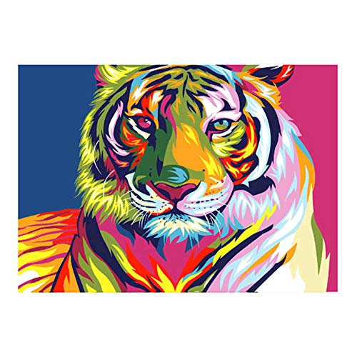 lightclub Artistic Wolf Tiger Cat DIY Partial Diamond Painting Cross Stitch Wall Craft Kit z311]()