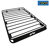 EAG Roof Rack Cargo Basket With Wind Deflector for 07-17 Jeep Wrangler JK 4 Door