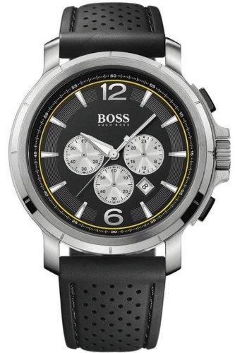Hugo Boss 1512455 - Reloj de caballero de cuarzo, correa de caucho color negro: Amazon.es: Relojes