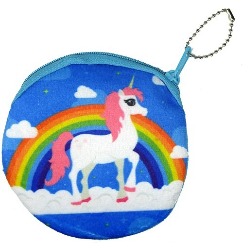 Amazon.com: Unicornio cartera bolsa arco iris llavero Holder ...