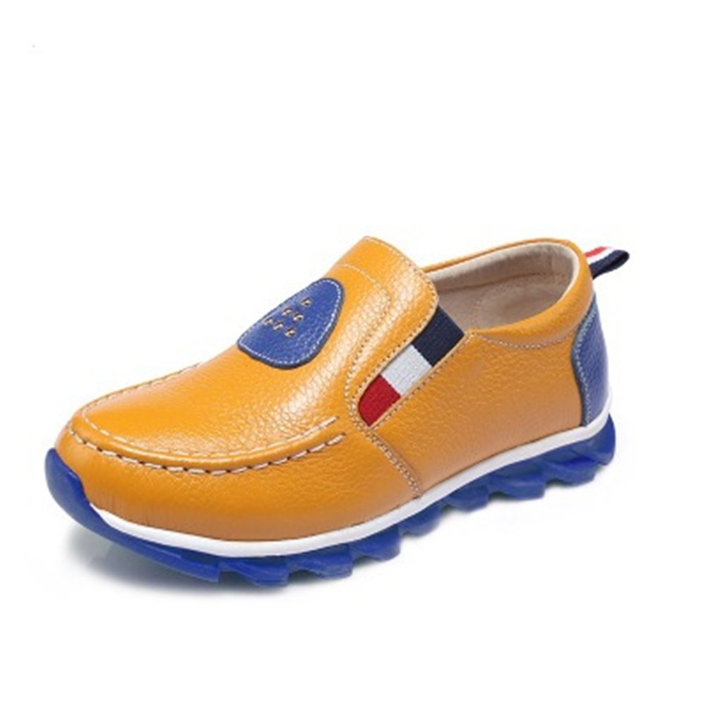 Fancyww Girls Strap School Uniform Mary Jane Flat Shoes Little Kids//Big Kids Yellow-34//2.5 M US Little Kid