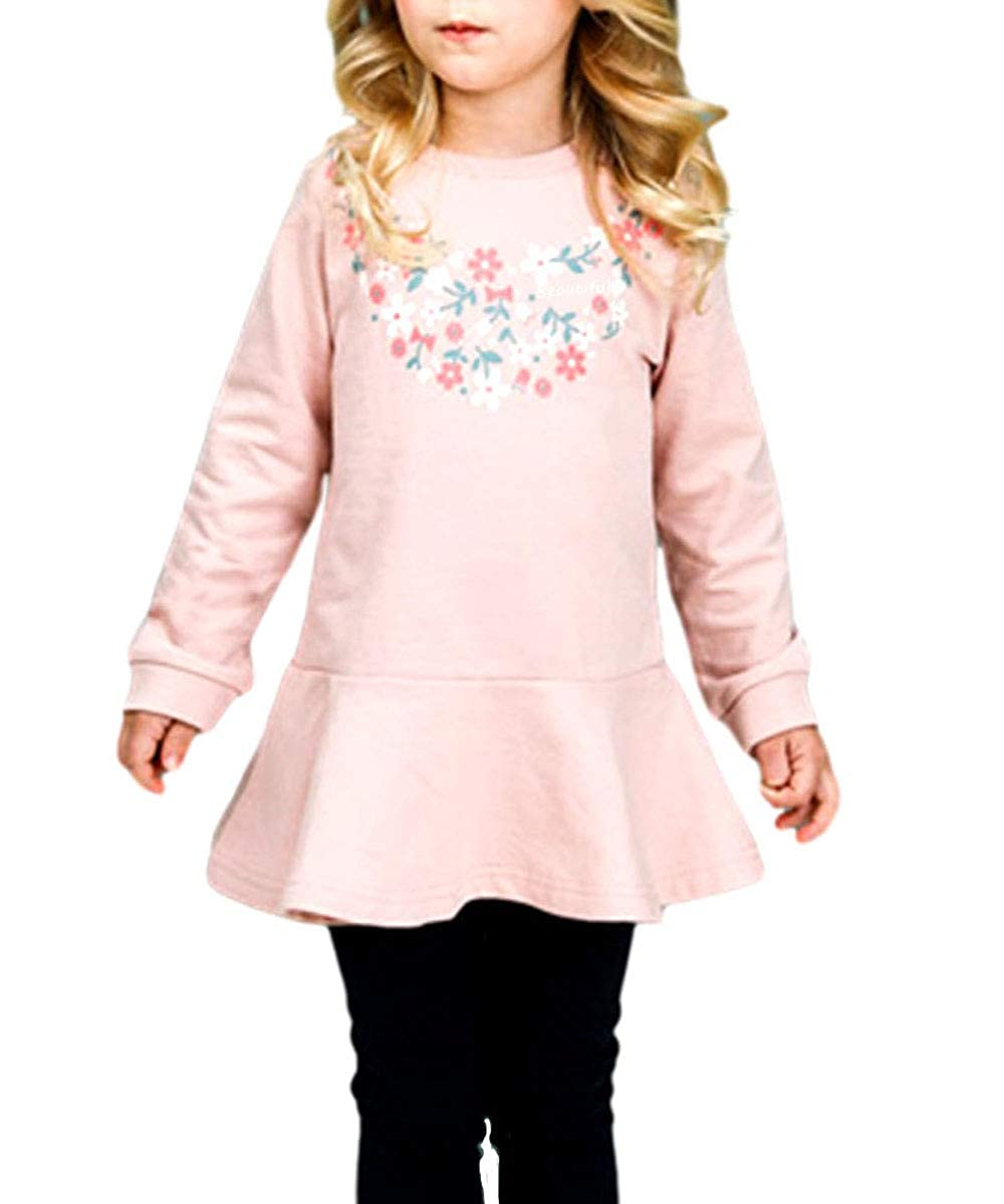 CuteMe Adorable Toddler Baby Girls Clothes Set Long Sleeve Top and Pants 2 Pieces Outfits Fall Clothes