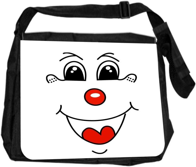 Happy Face Emoji Expression Cross Body Shoulder Messenger Laptop Bag