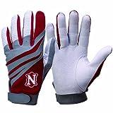 Adams Neumann Batting Gloves (Large, Maroon)